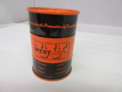 Vintage West Chemical Drum  Promo Bank   Tin Advertising Collectible  768-