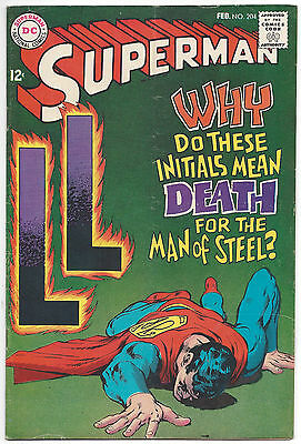 Superman #204 (FN) 1968, Neal Adams cover