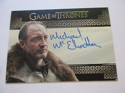 Game of Thrones Valyrian Steel Michael McElhatton as Roose Bolton VS Autograph