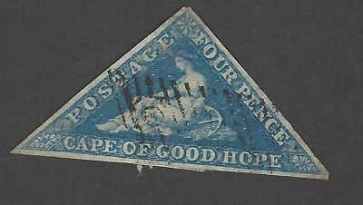 Cape of Good Hope 4d triangular used with three clear margins