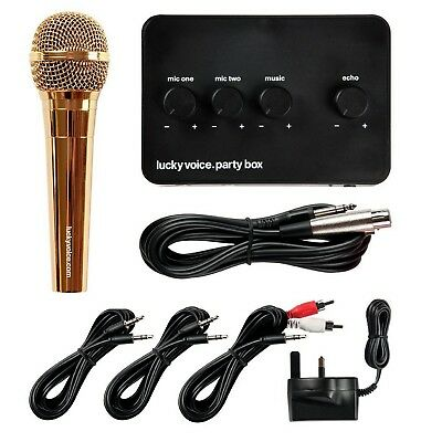 Lucky Voice Professional Home Party Karaoke Machine Set System in Gold