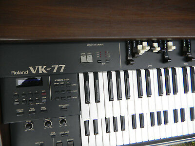 Vintage Roland VK77 VK 77  Electronic Organ Keyboard Wood stage VG + condition