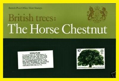 1974 The Horse Chestnut Presentation Pack 58  Royal Mail issued  Mint condition