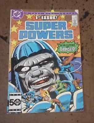Super Powers #1 of 6 Vol 2 Kirby Kupperberg DC Copper Age Comic Book FN  bx