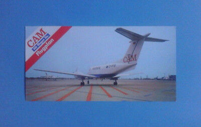 Airline-Issued Postcard / Timetable / Cam / Russow Aviation / Summer 1988