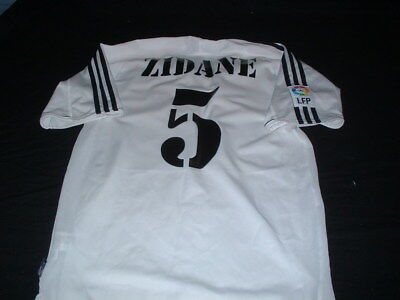 Real Madrid Spain La Liga Football Small Mans Vintage Zidane No5 Home Top France