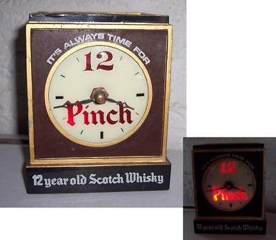 Vintage Haig & Haig Pinch Whisky Clock and Bottle Display Stand  As Is