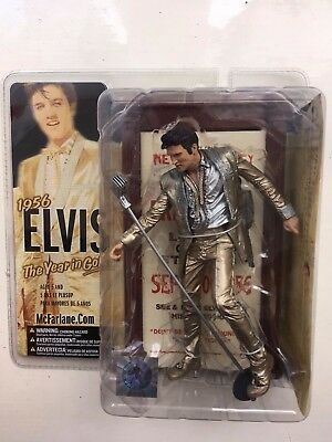Boxed Mcfarlane Musician Series Elvis Presley Figure The Year In Gold 1956