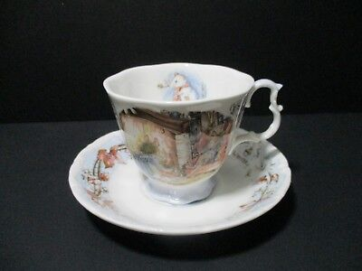 Vintage Royal Doulton Brambly Hedge WINTER Bone China Tea Cup and Saucer, Set