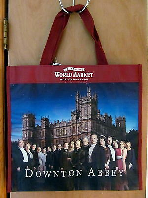 NEW Downton Abbey World Market 2013 Reusable Tote Shopping Bag Violet