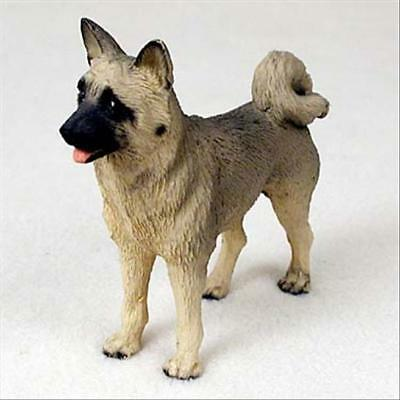 Akita Fawn Dog Hand Painted Collectable Figurine Statue