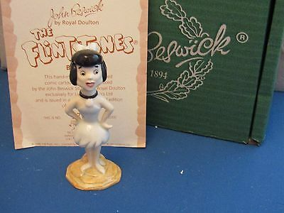 BETTY RUBBLE with box & cert  JOHN  BESWICK FLINTSTONES LIMITED EDITION MIB