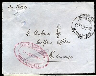 Rhodesia 1943 Military Gwelo Training Camp Cover To Bulawayo.scarce.  A86
