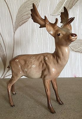 BESWICK  STANDING DEER  STAG MODEL No 981 LIGHT BROWN GLOSS PERFECT