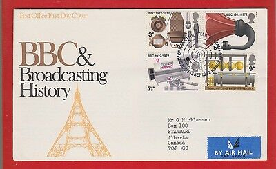 UK  1972 BBC & Broadcasting FDC