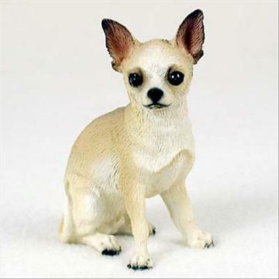 CHIHUAHUA Tan White  Hand Painted Canine Collectable Figurine Statue