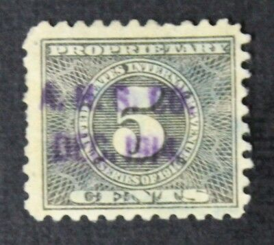 CKStamps: US Revenue Proprietary Stamps Collection Scott#RB43 Used CV$110
