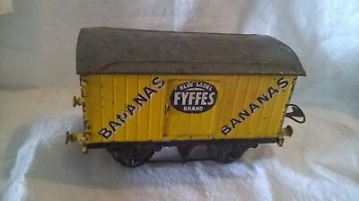 Vintage Tin Plate  Meccano / Hornby Advertising Fyffes Bananas