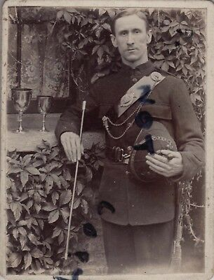 Cabinet Card Rifle Volunteer Corps believed to Royal Guernsey Militia