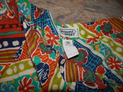 Vtg Missoni Sport Culottes Pants Size 42 Cotton Made In Italy Amazing Print!