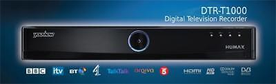 Humax DTR T1000 500GB YouView Freeview recorder iplayer itv hub usb 4 on demand