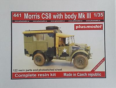 PLUS MODEL #441 Morris CS8 w/Body Mk.III Resin Kit in 1:35