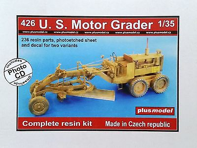 PLUS MODEL #426 US Motor Grader Resin Kit in 1:35