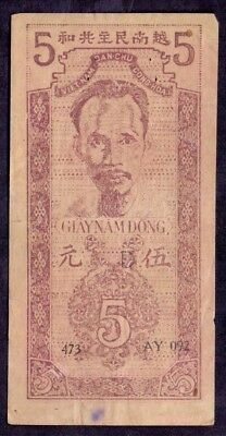 5 Dong From Vietnam Ho Chi Minh  French Colony