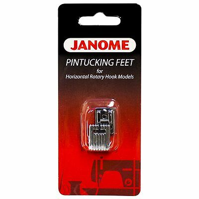 Janome Pin Tucking Feet x 2 - Horizontal Rotary Hooks