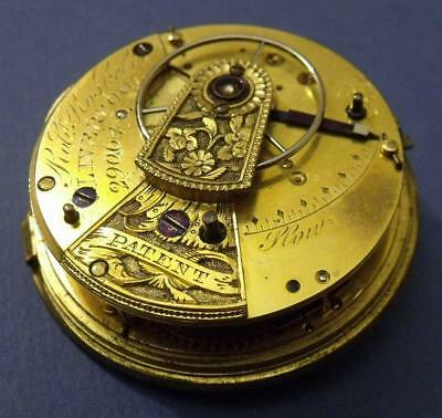 Antique Fusee Fob Pocket Watch Movement Robert Roskell - Liverpool