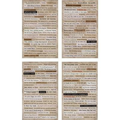 Tim Holtz Idea-ology - Halloween Clippings Stickers - Newspaper Clippings
