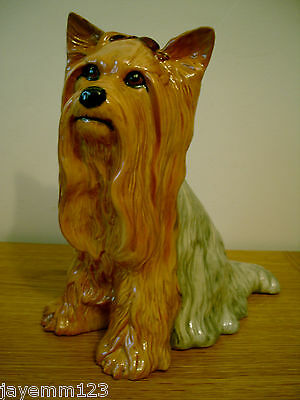 BESWICK LARGE YORKSHIRE TERRIER FIRESIDE DOG MODEL No. 2377 PERFECT CONDITION