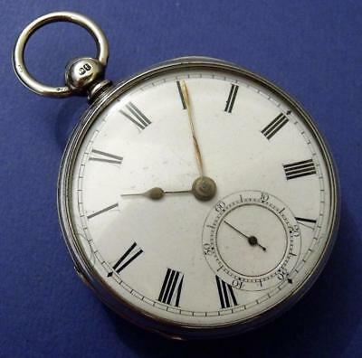 Antique Victorian Solid Silver Dent Of London Fusee Fob Pocket Watch 1874