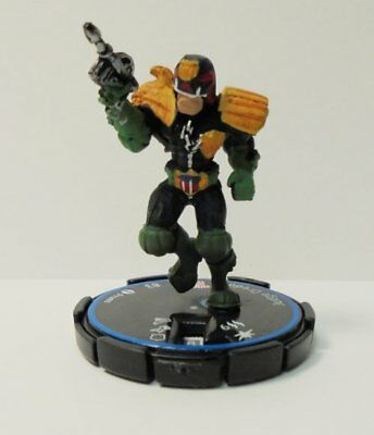 Indy Heroclix Judge Dredd Experienced / Blue Ring) Pre-Painted Plastic Miniature