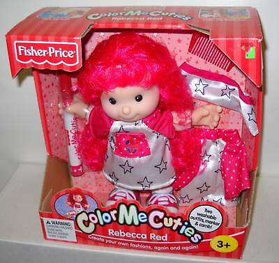 #5454 NRFB Fisher Price Color Me Cuties Rebecca Red Doll