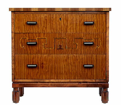 20Th Century Late Art Deco Birch Inlaid Chest Of Drawers