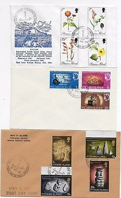 3 clean & unaddressed FIRST DAY COVERS.