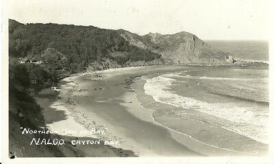Cayton Bay Northern View Of Bay N.a.l.co. Scarborough 1949 Realphoto Postcard