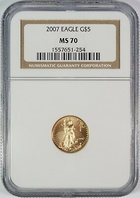 2007 $5 Gold Eagle NGC MS70