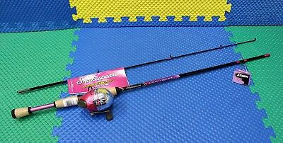 "Shakespeare 5' 6"" Amphibian Youth Spincast Combo Medium Pink AMPSCPNKCBO"