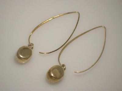 "Silpada Sterling Silver "" Just Dropping In"" Oval Drop Earrings W0821 Retired"