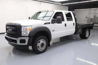 2012 FORD F450 CREW 4X4 DIESEL DAULLY FLATBED TOW 52K #B99713 Texas Direct Auto
