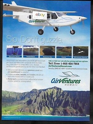 Air Ventures Hawaii Ga-8 Airvans See Oahu On Sip Not Guzzle Like Helicopters Ad