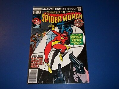 Spider-Woman #1 Bronze Age Key 1st Issue Wow