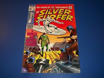 Silver Surfer #10 Silver Age Comic Book VG+