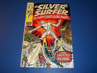 Silver Surfer #18 Silver Age Inhumans Solid Issue Wow VGF