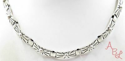 Sterling Silver Vintage 925 Mexico Collar Necklace 15'' (42.6g) - 575511