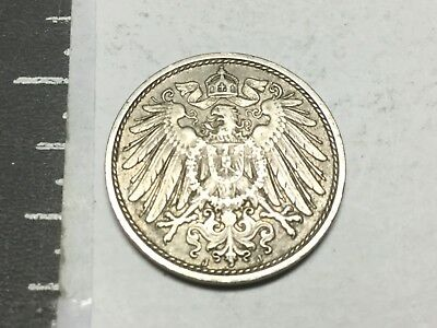 GERMANY 1911-J 10 Pfennig coin nice condition