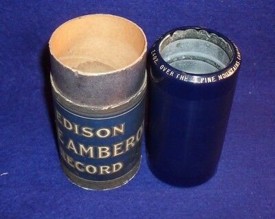 Edison Blue Amberol Cylinder Record # 2402 OVER THE ALPINE MOUNTAINS - GILLETTE