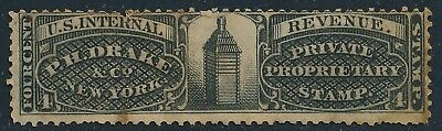 Dr Jim Stamps Us Bob Private Die Scott Rs83 4C P H Drake & Co No Reserve